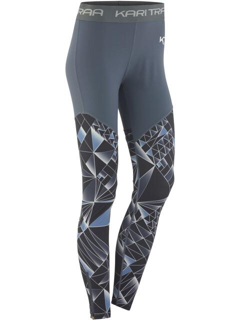 Kari Traa Vilde - Pantalones largos running Mujer - gris/azul